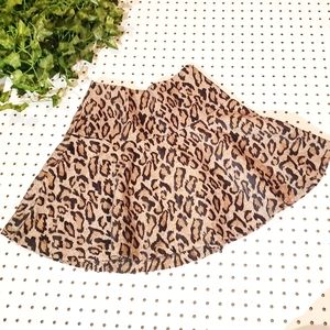 Free People Edgy Cheetah Print Mini Flare Skirt